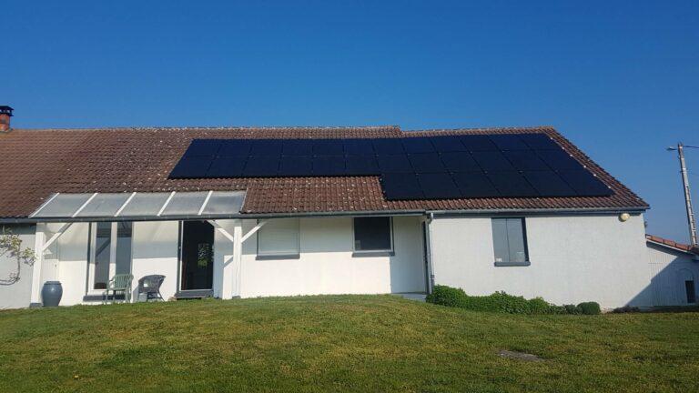 OHE installation photovoltaique en autoconsommation sur maison individuelle dans le puy de dome