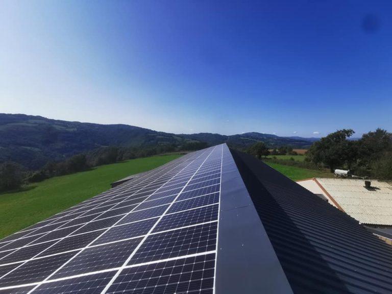 OHE - photovoltaique 100kWc grange Auvergne