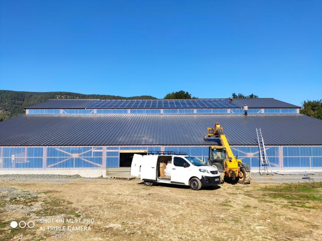 OHE - 36kWc séchage en grange photovoltaique