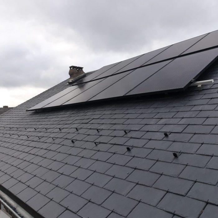 OHE installation photovoltaique en autoconsommation maison en ardoise puy de dome